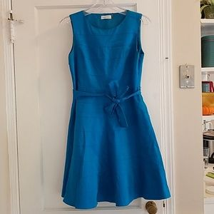 Bright Blue Calvin Klein Fit and Flare Dress